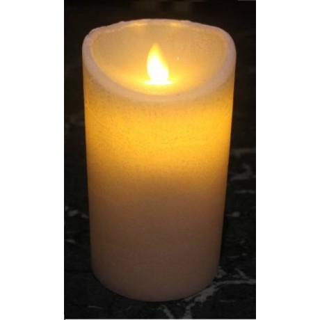 VELA LED DE 7.5X12.5 Cm. CON LLAMA MOVIL, TEMPORIZADOR E IR