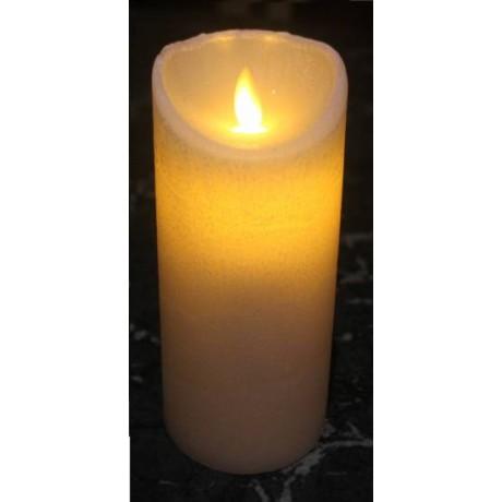 VELA LED DE 7.5X15 Cm. CON LLAMA MOVIL, TEMPORIZADOR E IR
